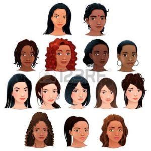 24023171-indiennes-les-femmes-noires-asiatiques-et-latino-vecteur-isol-avatars